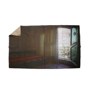 Nº46 Contemporary Remediation - The Mimikry Singlebedspread Iran Quilt Open Curtain
