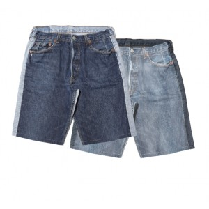 Nº61 Swimmingtogether - Jeanspleatfront shorts